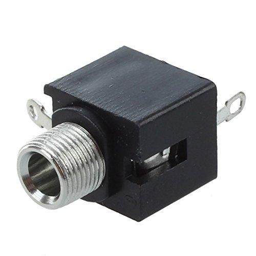 Heritan 10 conectores de audio hembra de 3,5 mm de panel PCB para auriculares