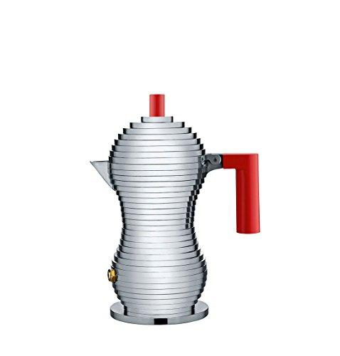 Alessi MDL02/1 R Pulcina Caffettiera Espresso, in PA e...