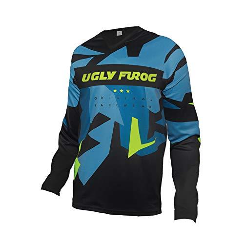 Uglyfrog Bike Wear Atmungsaktiv Trendy Herren Downhill/MTB Jersey Mountain Bike Shirt Fahrradtrikot Langarm Freeride BMX Fr¨¹Hling Top HDX07