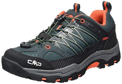 CMP – F.lli Campagnolo Unisex-Kinder Kids Rigel Low Shoe Wp Trekking-& Wanderhalbschuhe, Grün (Jungle-Tango 23TE), 38 EU