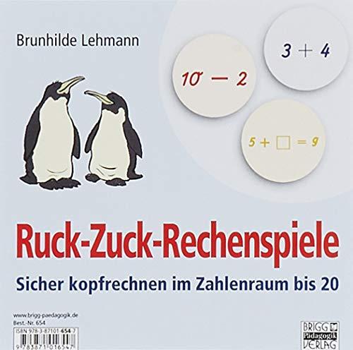 Ruck-Zuck-Rechenspiele: Sicher kopfrechnen im Zahlenraum bis 20