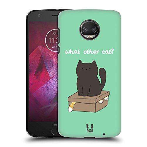 Head Case Designs What Other Cat Ceiling Cat Vs Basement Cat Hard Back Case Compatible for Motorola Moto Z2 Force