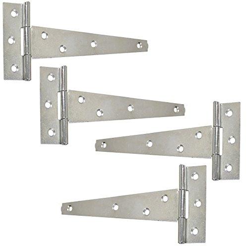 "Pair Heavy 12/"" inch T Tee Hinge GALVANISED or SELF COLOUR Gate Door Stable Shed"