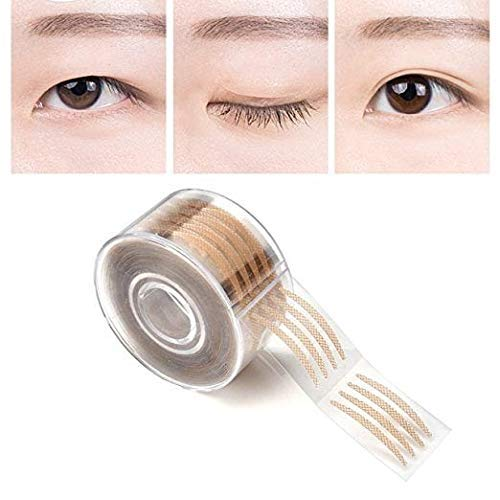 Buy Nasmodo® eyelid tape double sided eyelid invisible and waterproof eye  tape for eyelids, Makeup Shadow Eyelid tape tools Sticker Strips with fork  (Beig,600pcs) Online at Low Prices in India - Amazon.in