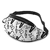 Hdadwy Waist Pack - Musical Music Notes Treble Clef Saxofón Riñonera Grande Cinturón Deportivo Riñonera Riñonera Riñonera Riñonera para Senderismo Correr Viajar Rave