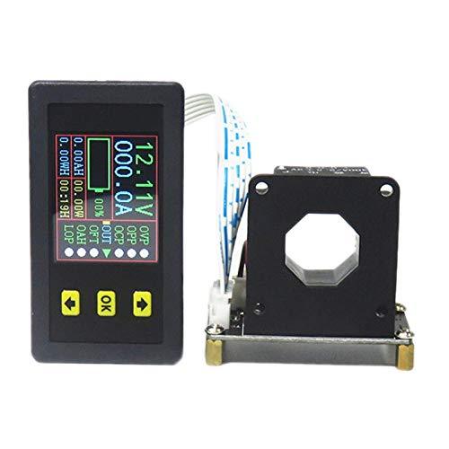 TOOGOO 90V 500A VoltíMetro Digital AmperíMetro Voltaje Corriente KWh Medidor de Vatios 12V 24V 48V 72V Capacidad de BateríA Monitoreo de EnergíA
