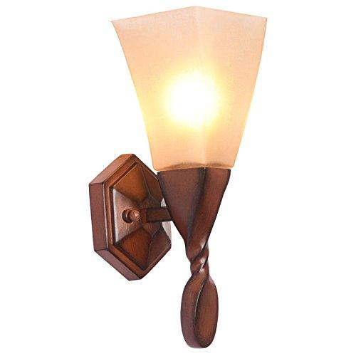 JJZHG Wandlamp, waterdicht, retro, woonkamer, slaapkamer, imitatiehout, hout, achtergrond, bedlamp, spiegel, schijnwerper, wandlamp, waterdichte wandverlichting