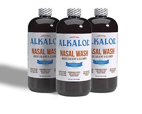Alkalol Solution Original Nasal Wash, 3 Count -16 fl oz