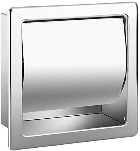 NEDTM Toilettenpapierhalter Aus Edelstahl Für Badezimmer Eingebetteter Toilettenpapierhalter Unterputz
