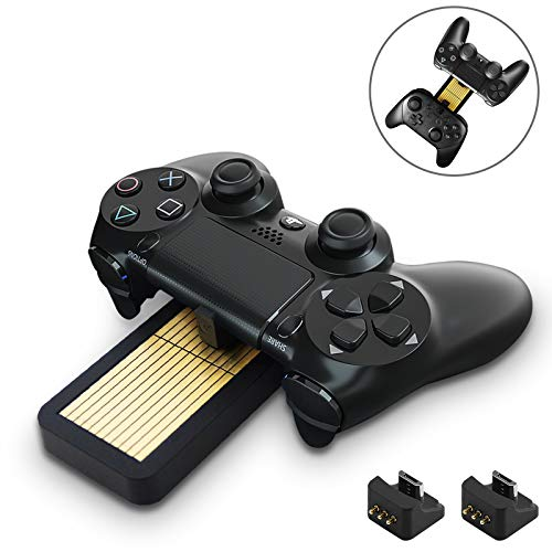 GuliKit Controller Charging Dock for PS4 Controller,with 2 Charging Dongle, Fast Dual Charging Station for Sony PS5 DualSense Controller/PS4 DualShock/XBOX ONE/Switch PRO /Kingkong Pro Controllers