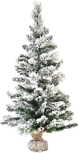 XONE Pinetto del Nord innevato 60cm in PP+PVC | Mini Albero di Natale Artificiale con Base in Juta con Neve