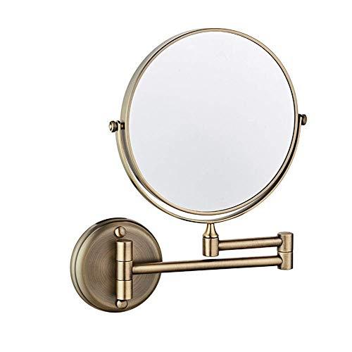xzvnm Spiegel/Linse , Glas , Spiegel Schminkspiegel Schminkspiegel 8-Zoll-beidseitig drehbarer Wandspiegel, ausziehbar Klappbar Badezimmer Rasieren Kosmetik-Schminkspiegel 3-fache Vergrößerung mit