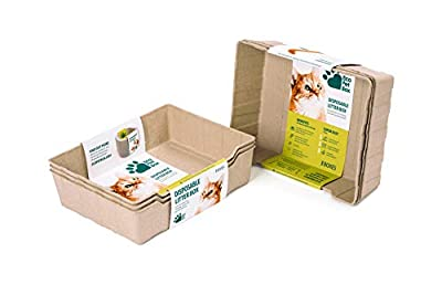Enviro Works Eco Pet Box Odourless and Leak Free Cat Litter Box Disposable Tray 3-Pack