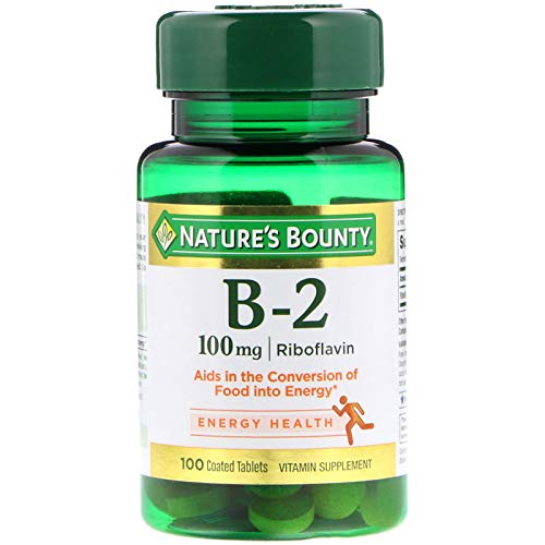Nature's Bounty Vitamin B2-100 mg - 100 Tablets