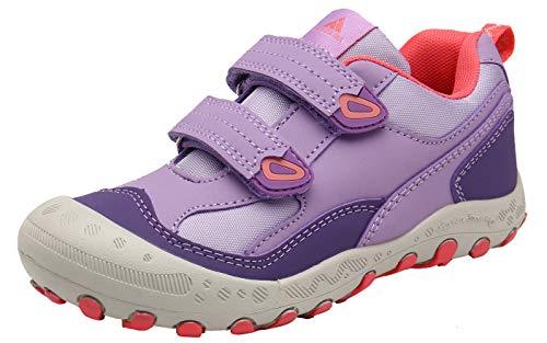 Mishansha Kinder Atmungsaktiv Trekkingschuhe für Mädchen rutschfest Wanderschuhe Leicht Turnschuhe Violett Gr.26