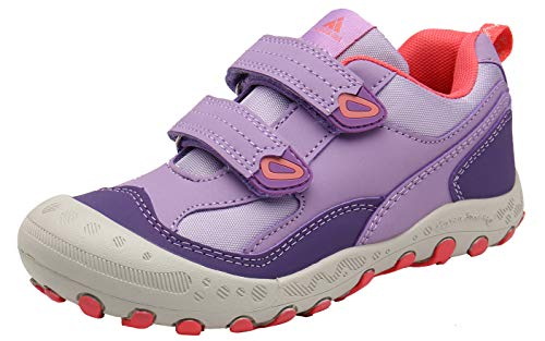 Mishansha Zapatillas Deportivas Ligeras Niñas Casual Moda Zapatos de Gimnasia para Caminar Transpirable Cómoda Zapatillas de Corre Morado Gr.28