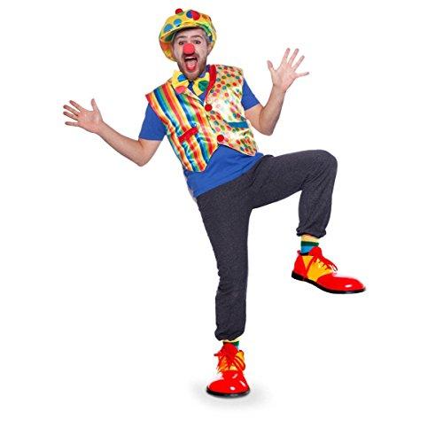 Folat 64069 clown set: Gilet, stropdas & hoed, uniseks volwassenen, één maat