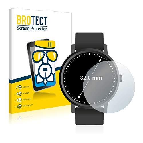 BROTECT Panzerglas Schutzfolie kompatibel mit Armbanduhren (Kreisrund, Durchmesser: 32 mm) - AirGlass, extrem Kratzfest, Anti-Fingerprint