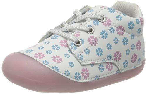 Lurchi Mädchen FLOSY Sneaker, Weiß (White Flower 49), 20 EU