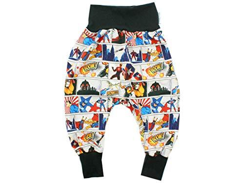 Kleine Könige Pantalon de survêtement pour bébé garçon - Modèle Superheld - Noir - Certifié Ökotex 100 - Tailles 50-128 - Multicolore - 5/6 Ans