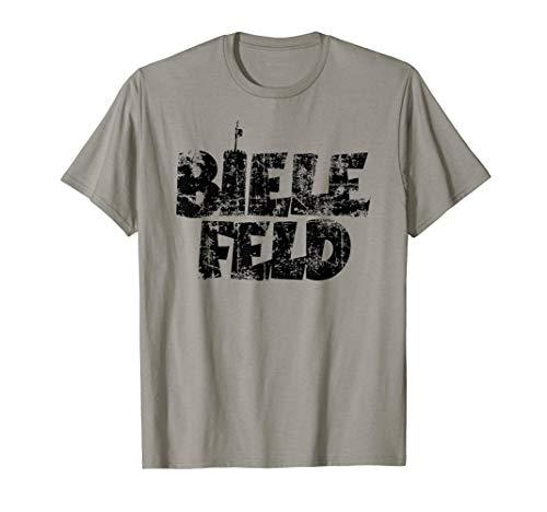 Bielefeld mit Sparrenburg (Vintage Schwarz) T-Shirt