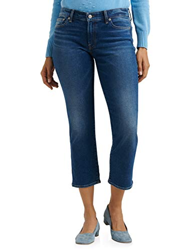 Lucky Brand - Jeans da donna a vita media, con taglio dritto - blu - 28W x 26L