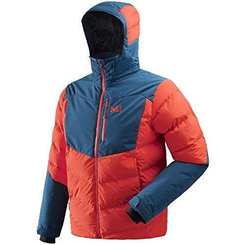 MILLET Robson Peak JKT Herren Skijacke XL Orange/Poseidon