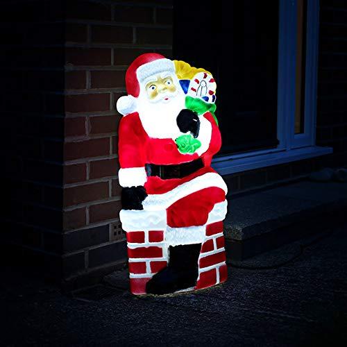 Festive Lights strombetriebene, beleuchtete Weihnachtsfiguren, Verschiedene Motive und Größen, für Innen und Außen, (Weihnachtsmann 78cm)