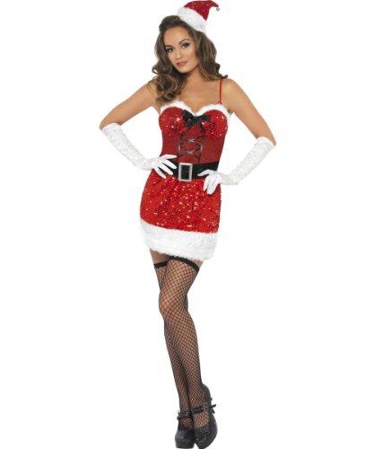 Fever Sequin Santa Sizzle Costume