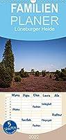 Lueneburger Heide - Familienplaner hoch (Wandkalender 2022 , 21 cm x 45 cm, hoch): Die Lueneburger Heide waehrend ihrer Bluetezeit (Monatskalender, 14 Seiten )