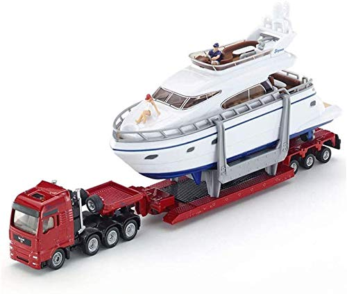 TYZXR Auto-Modell-Legierungstechnik-LKW-Anhänger-Hochleistungs-LKW und Yacht 1849 das Spielzeug-Modell der Kinder