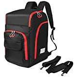 Zacro Ski Boot Bag - 50L Ski Boot Travel Backpack, Ski and Snowboard Boots Waterproof Travel Luggage, Stores Gear Including Ski Helmet, Goggles, Gloves & Accessories