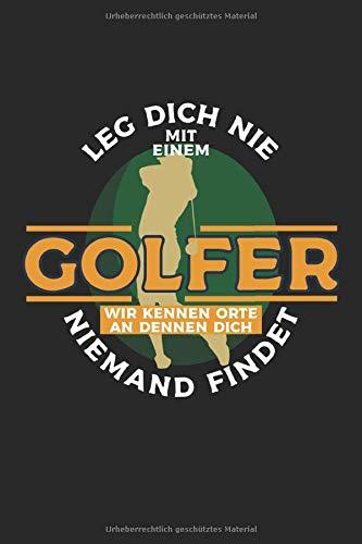 Golfer: Golf Notizbuch 6x9 liniert