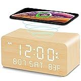 Andoolex Wooden Digital Alarm Clock with...