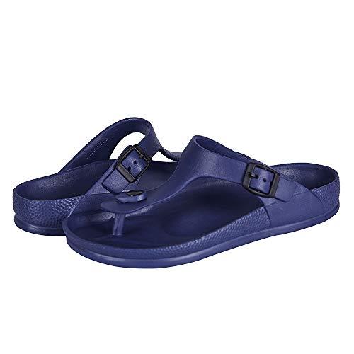 FUNKYMONKEY Women's Comfort Slides Double Buckle Adjustable EVA Flat Sandals Size: 8 UK
