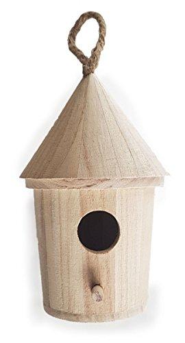 Holzspielzeug Peitz Rundes Naturholz-Vogelhaus-Futterkasten-Nistkasten SLH2807 - Basteln - Bemalen