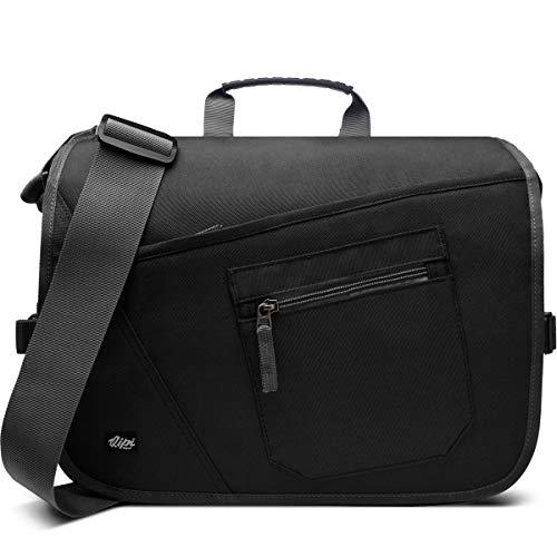 Qipi Messenger Bag - Pocket Rich Satchel Shoulder Bag for Men & Women - with 15.6 inch Laptop Compartment
