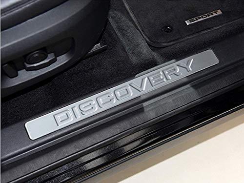 DIYUCAR Edelstahl Auto Einstiegsleisten Schutzplatte für LR Discovery Sport 2015 2016 2017 2018 2019
