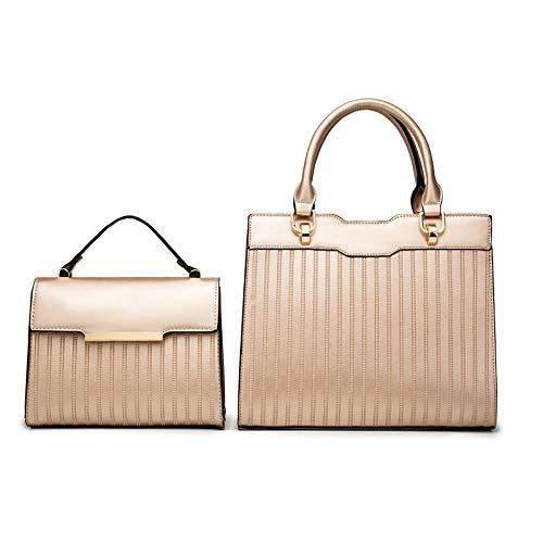 BeniNeue Frauentasche, Handtasche kann eine schulterdiagonale zweiteilige Tasche sein-Golden