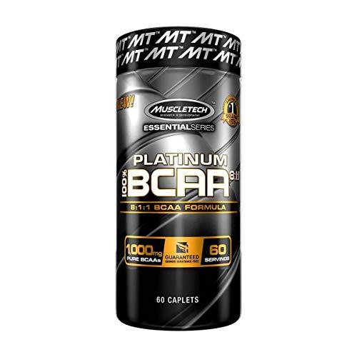 MuscleTech Platinum 100% BCAA 8:1:1, 60 caplets