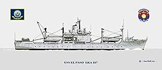 USS El Paso LKA-117 Ship Print