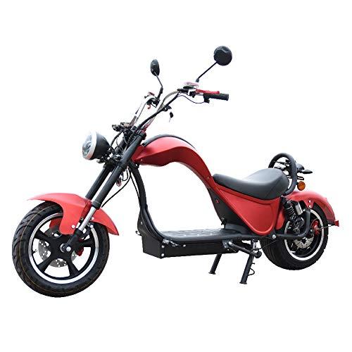 CITYCOCO COBRA Matriculable 2000w 24 AH (batería de litio de 60V 24 Ah, doble batería, autonomía de 60-120 km, iluminación, intermitentes, frenos de disco) - Rojo