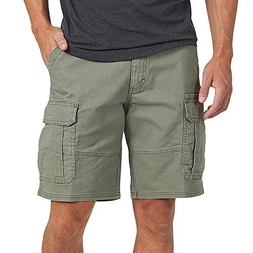 Mlight Pantalones cortos de hombre de estilo informal para hombre, pantalones cortos cargo de color liso, pantalones cortos elásticos para la vida cotidiana, viajes, etc.