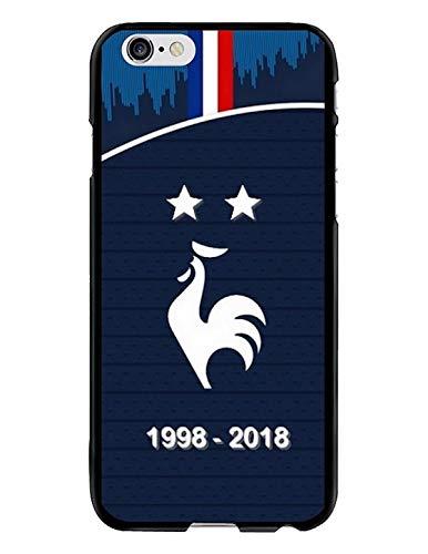 Coque-swag - Carcasa flexible para iPhone 6 Plus/6S Plus (diseño de la Copa del Mundo 2018 con dos estrellas de casa