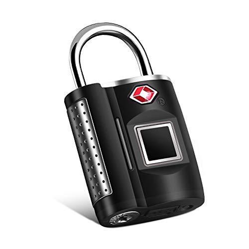 Fingerprint Lock, TSA Approved Smart Digital Locker Lock for Gym, Luggage, Travel, House Door, Suitcase, Backpack, School, Bike,Office, Keyless
