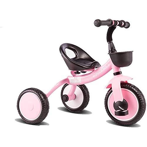 Daxiong Triciclo para niños, Ligero 2-5 años Cochecito de Coches de Juguete Antiguo de los niños del bebé de la Bicicleta,Rosado