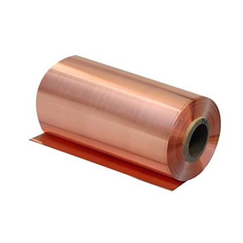 0.08mm x 100mm x 1000mm 99.9% Pure Copper Cu Metal Sheet Foil