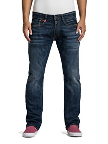 Replay Herren Jeans Newbill MA955-606-300 Regular Fit Straight Leg deep Blue, Größe:W 30 L 36;Farbe:deep Blue (300)