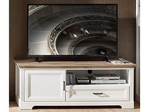 TV-Lowboard Unterschrank Fernsehtisch HiFi Element Rack Sideboard Jillana I Pinie hell/Artisan Eiche