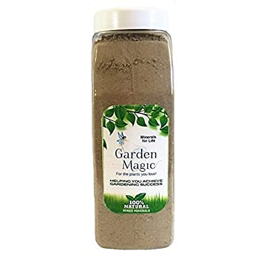 Garden Magic Minerals 100% Organic Concentrated Mineral Fertilizer - All Natural Plant Fertilizer - Organic Plant Food To Replenish Soil Nutrients